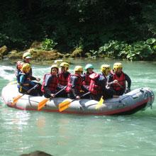 Vacance Rafting en eau vive