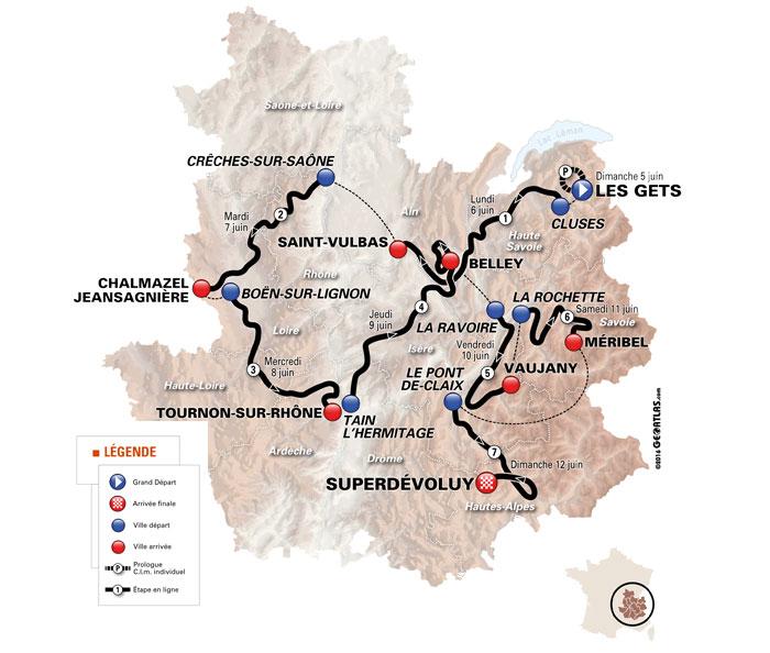 Criterium du Dauphine Map