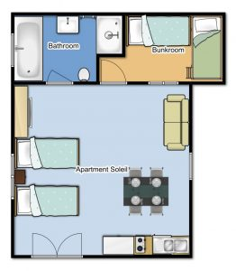 Apartment Soleil Floor Plan