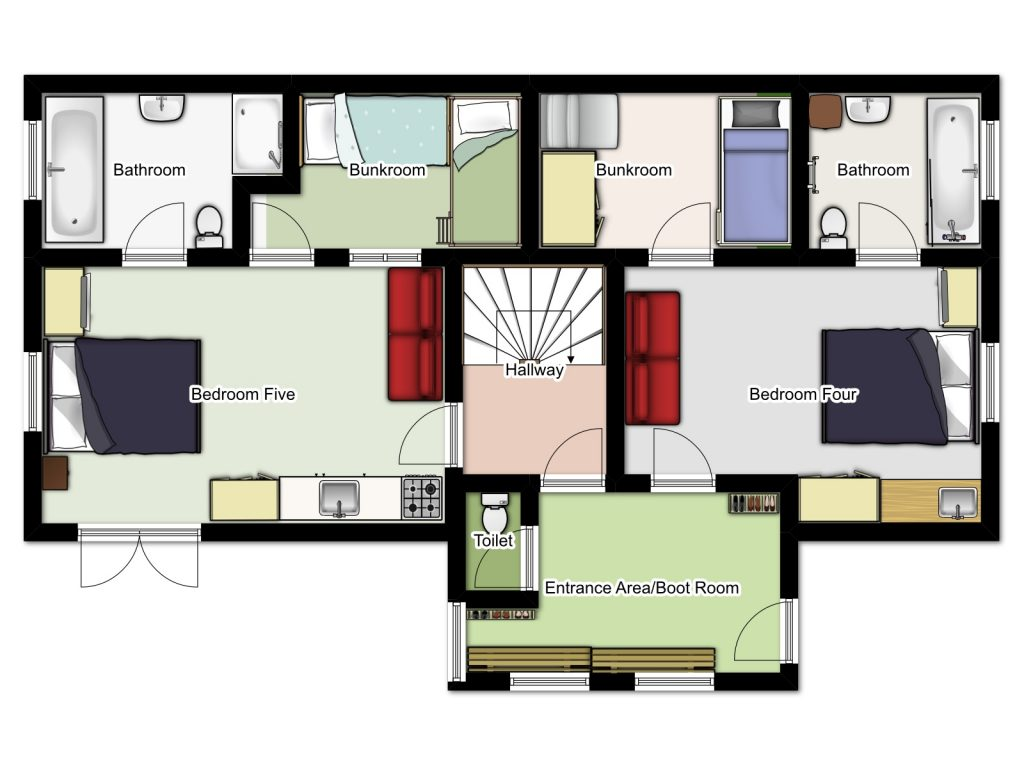 Chalet Aveture Ground Floor Plan