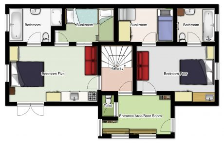 Chalet Aventure Ground Floor Plan
