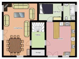 Chalet Aventure Middle Floor Plan