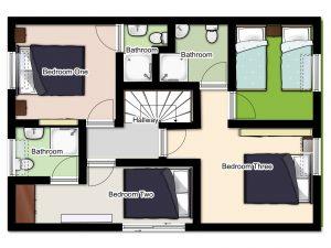Chalet Aventure Top Floor Plan