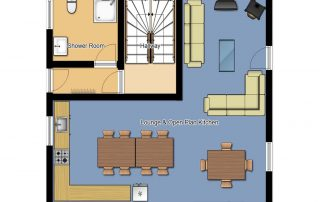 Chalet Cofis Middle Floor Plan