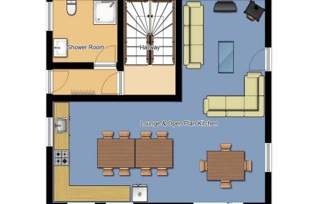 Chalet Cofis Middle Floor Plan