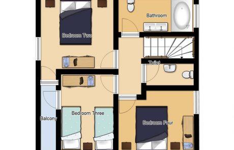 Chalet Cofis Top Floor Plan