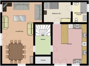Chalet Aventure Middle Floor Plan