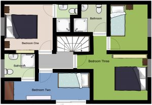 Chalet Aventure Top Floor Plan