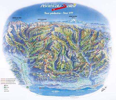 Portes du Soleil Bike Map