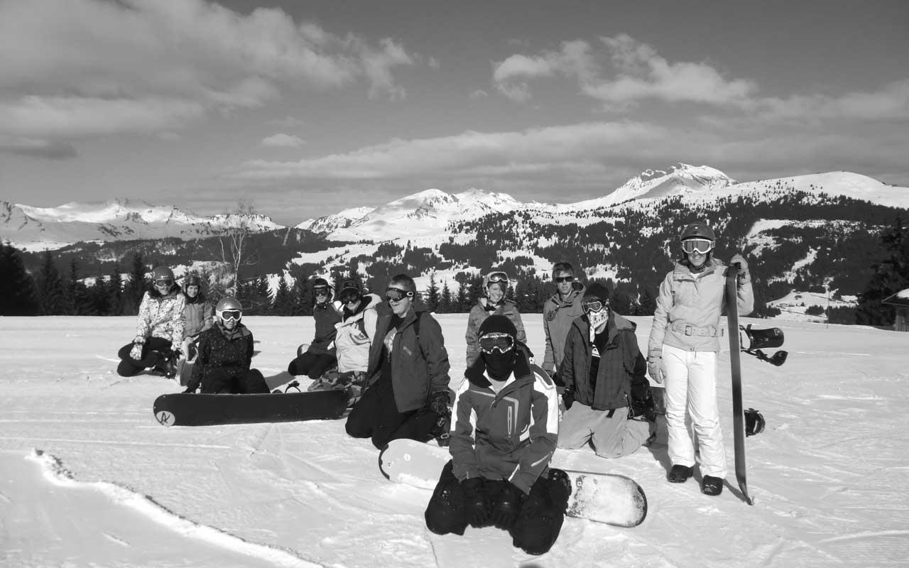 Snowboarding Les Gets