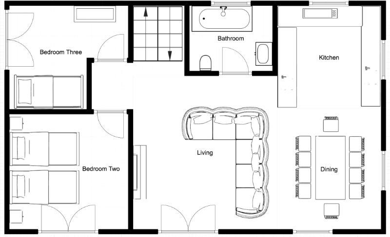 Chalet Fram Middle Floor Plan