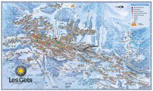 Les Gets Village Map Showing Chalet Fram