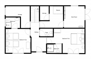 Chalet Fram Ground Floor Plan