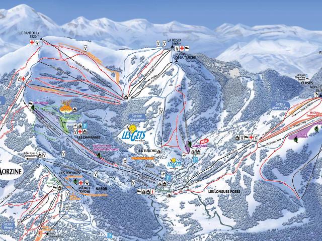 Pistes Map Les Gets