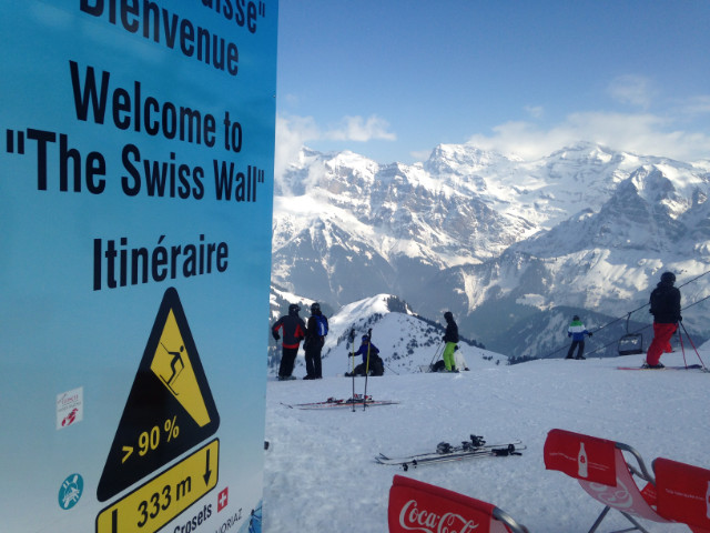 Skiing the Swiss Wall